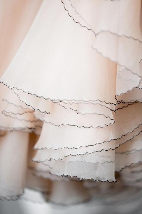 White, Clothing, Dress, Shoulder, Textile, Lace, Photography, Waist, Neck, Ruffle,