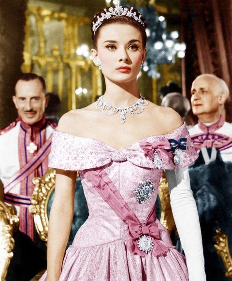 Clothing, Fashion, Fashion model, Pink, Dress, Beauty, Hairstyle, Victorian fashion, Haute couture, Fashion design,