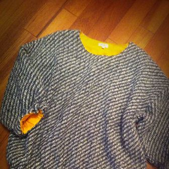 Product, Sleeve, Flooring, Textile, Pattern, Baby & toddler clothing, Floor, Sweater, Hardwood, Woolen,