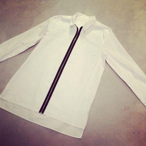 Product, Collar, Sleeve, White, Dress shirt, Beige, Space, Design, Fashion design, Active shirt,