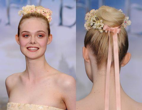 Hair, Headpiece, Hairstyle, Face, Hair accessory, Chignon, Chin, Skin, Bun, Long hair,
