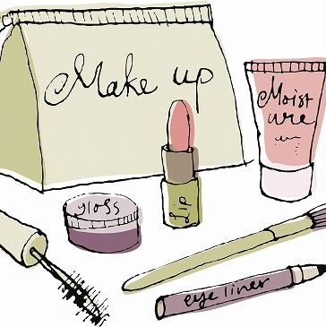 Stationery, Artwork, Peach, Illustration, Drawing, Writing implement, Cylinder, Paint, Personal care, Lipstick,