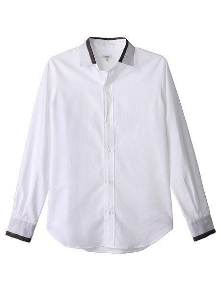 Clothing, Product, Collar, Sleeve, Dress shirt, Textile, White, Fashion, Button, Fashion design,