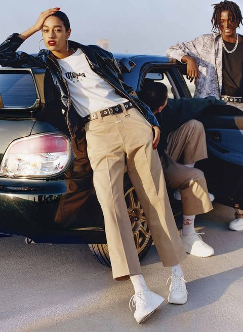 Jeans, Street fashion, Fashion, Leg, Footwear, Denim, Outerwear, Vehicle, Jacket, Shoe,