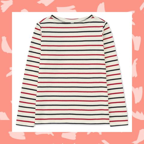 Clothing, Sleeve, T-shirt, Pink, Line, Outerwear, Pattern, Pattern, Top,