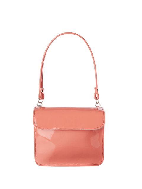 Handbag, Bag, Pink, Shoulder bag, Fashion accessory, Red, Leather, Product, Orange, Peach,