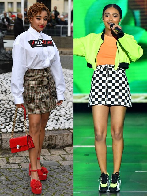 Clothing, Microphone, Green, Sleeve, Pattern, White, Red, Style, Uniform, Street fashion,