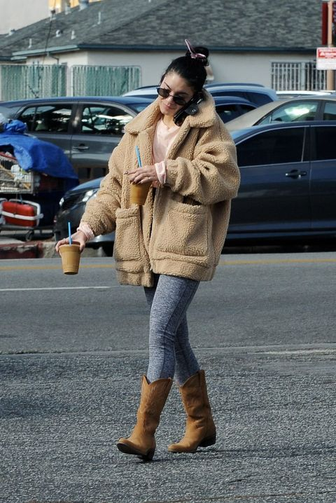 Street fashion, Fur, Photograph, Clothing, Snapshot, Fashion, Jeans, Coat, Outerwear, Footwear,