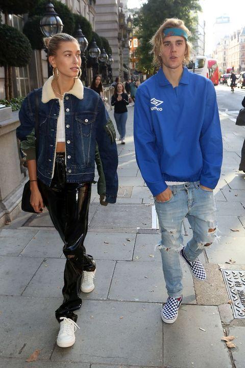 Jeans, Denim, Street fashion, Blue, Fashion, Snapshot, Standing, Footwear, Jacket, Textile,