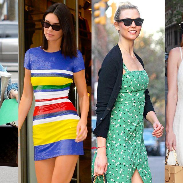 Clothing, Street fashion, Eyewear, Fashion, Sunglasses, Yellow, Dress, Shoulder, Fashion model, Summer,