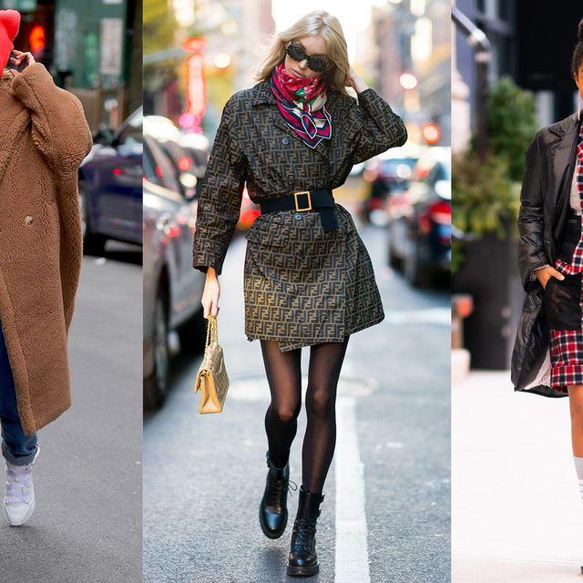 Clothing, Street fashion, Fashion, Tartan, Coat, Plaid, Footwear, Outerwear, Pattern, Knee,