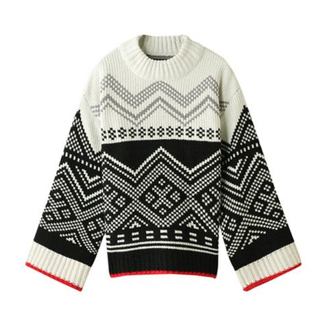 Clothing, Sleeve, Outerwear, Sweater, Wool, Pattern, Neck, Design, Pattern, Collar,