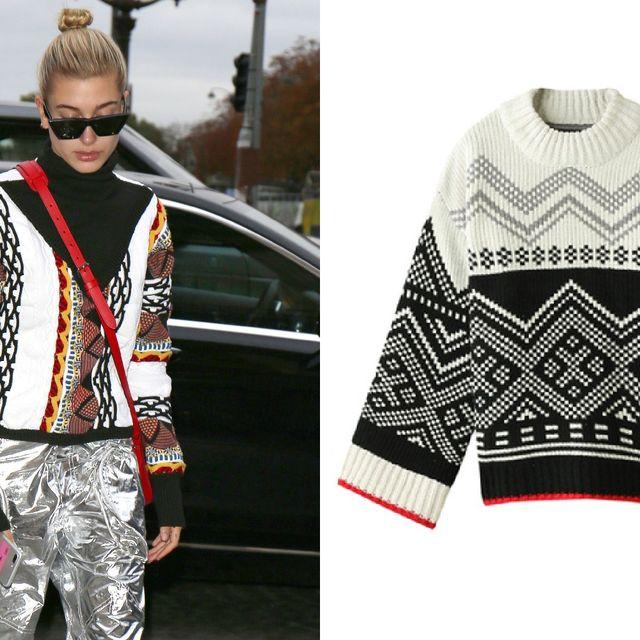 Clothing, Street fashion, Fashion, Outerwear, Sleeve, Sweater, Pattern, Design, Poncho, Pattern,