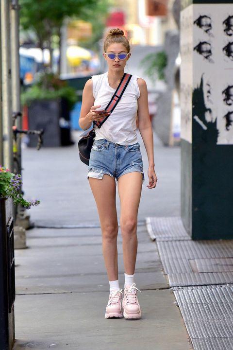 White, Photograph, Clothing, Street fashion, Fashion, Snapshot, Beauty, Shorts, Denim, Jeans,