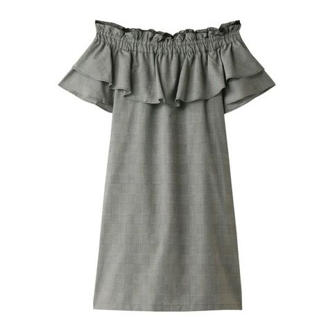 Clothing, Dress, Day dress, Sleeve, Textile, Ruffle, Neck, Blouse, Pattern, Waist,
