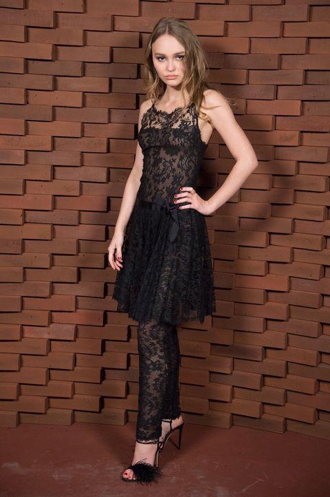Clothing, Dress, Fashion model, Fashion, Cocktail dress, Shoulder, Footwear, Waist, Little black dress, Neck,