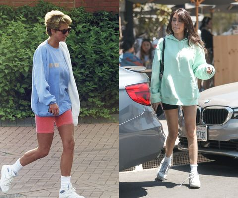 Clothing, Human leg, Car, Grille, Street fashion, Shorts, Personal luxury car, Luxury vehicle, Bmw, Hood,
