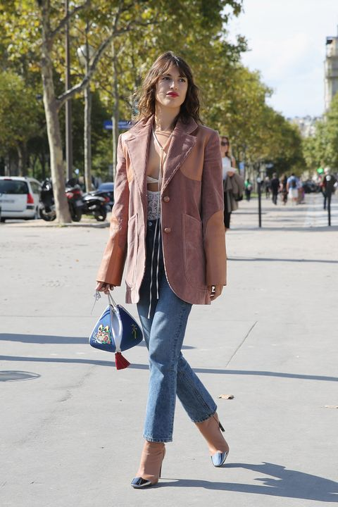 Clothing, Jeans, Street fashion, Fashion, Brown, Snapshot, Outerwear, Denim, Blazer, Coat,
