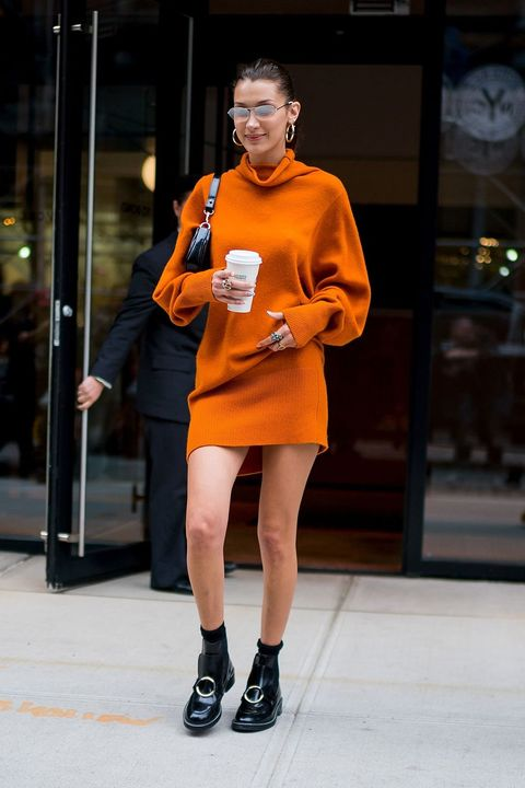 Fashion, Street fashion, Orange, Yellow, Footwear, Snapshot, Leg, Fashion design, Shoe, Fashion show,