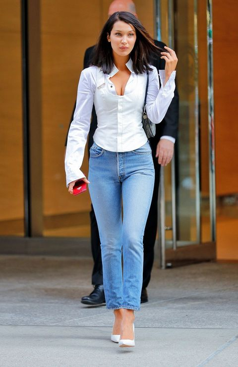 Jeans, Clothing, White, Denim, Waist, Street fashion, Fashion, Outerwear, Leg, Trousers,