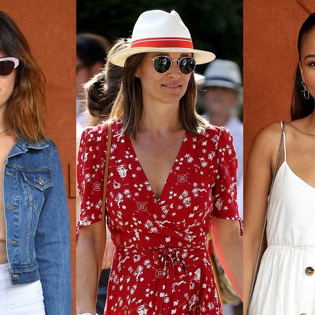 Clothing, White, Eyewear, Jeans, Street fashion, Fashion, Hat, Sunglasses, Denim, Fashion model,