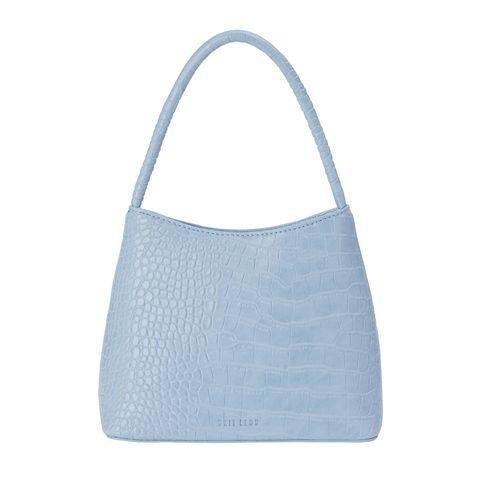 Bag, White, Fashion accessory, Style, Luggage and bags, Shoulder bag, Handbag, Azure, Grey, Aqua,