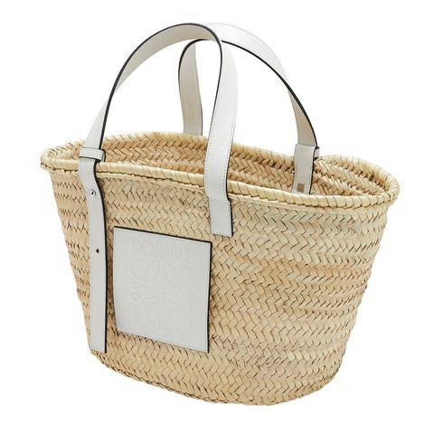 Wicker, Basket, Storage basket, Bag, Home accessories, Beige, Picnic basket, Shoulder bag, Natural material, Label,
