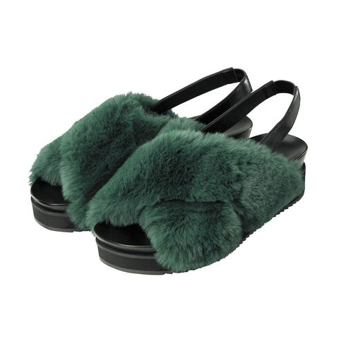 Footwear, Fur, Turquoise, Shoe, Teal, Slipper, Slingback, Turquoise,