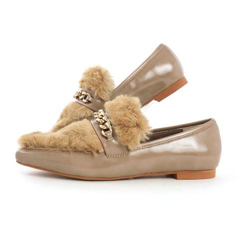 Footwear, Shoe, Beige, Brown, Fur, Leather, Suede,