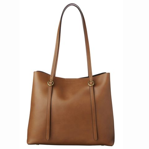 Handbag, Bag, Leather, Tan, Brown, Fashion accessory, Shoulder bag, Product, Caramel color, Font,