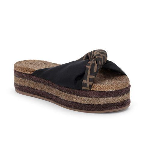 Footwear, Shoe, Brown, Beige, Espadrille, Wedge, Sandal,