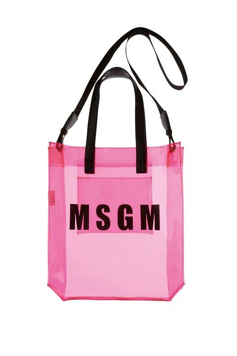 Handbag, Bag, Pink, Product, Tote bag, Fashion accessory, Shopping bag, Font, Material property, Luggage and bags,