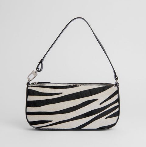 Bag, White, Style, Shoulder bag, Luggage and bags, Metal, Black-and-white, Musical instrument accessory, Triangle, Silver,