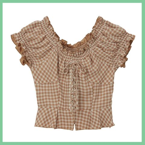 Clothing, Product, Blouse, Pattern, Outerwear, Beige, Sleeve, Sleeveless shirt, Pattern, Top,