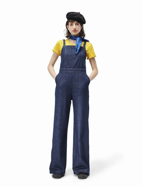 Clothing, Overall, Costume, Workwear, Uniform, One-piece garment, Electric blue, Trousers,