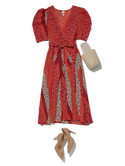 Clothing, Dress, Day dress, Sleeve, Brown, Cocktail dress, Footwear, Pattern, Pattern, Robe,