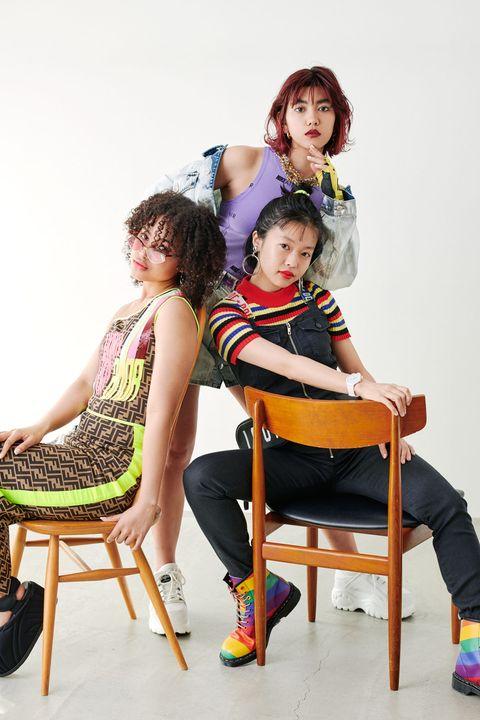 Sitting, Child, Fashion, Furniture, Human, Fashion design, Photography, Chair, Dress, Room,