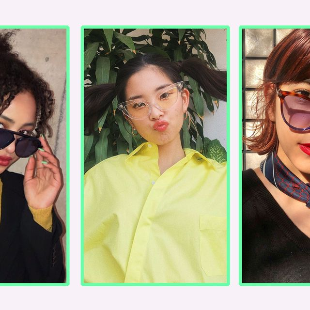 Eyewear, Face, Hair, Glasses, Head, Hairstyle, Nose, Yellow, Forehead, Lip,