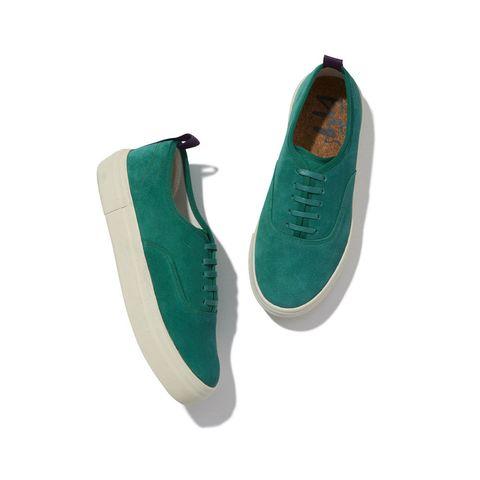 Footwear, Green, Turquoise, Shoe, Aqua, Teal, Plimsoll shoe, Suede, Sneakers, Beige,