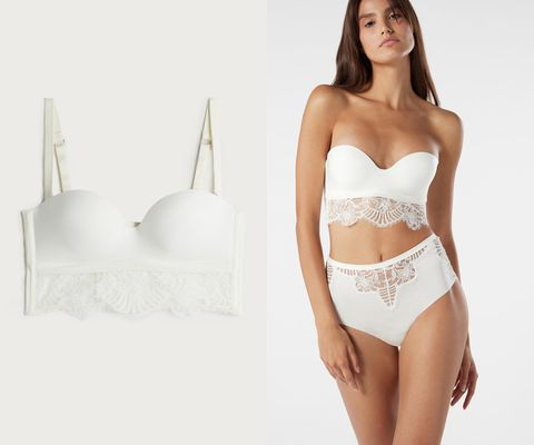 Skin, Shoulder, Joint, Waist, White, Undergarment, Brassiere, Lingerie, Fashion model, Beauty,