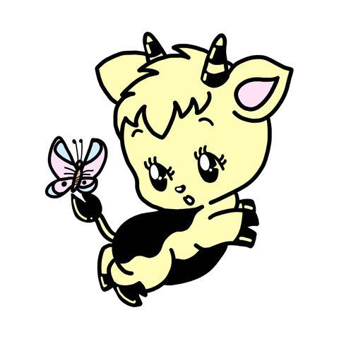 Cartoon, Line art, Clip art, Sticker, Fictional character, Tail, Illustration,