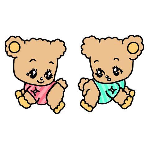 Cartoon, Animal figure, Clip art, Teddy bear, Toy,