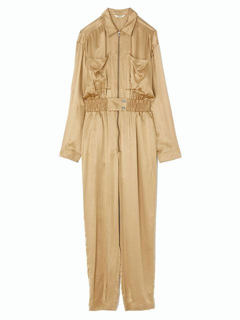 Brown, Sleeve, Collar, Textile, Khaki, Fashion, Tan, Beige, One-piece garment, Clothes hanger,