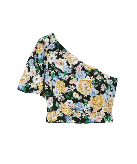 Clothing, Yellow, Sleeve, Blouse, Crop top, Outerwear, Shirt, T-shirt, Pattern, Textile,