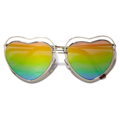Eyewear, Sunglasses, Glasses, Personal protective equipment, Aqua, Yellow, Green, Goggles, Transparent material, aviator sunglass,