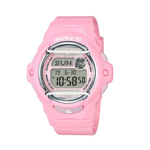 Watch, Pink, Product, Digital clock, Strap, Watch accessory, Material property, Wrist, Analog watch, Fashion accessory,