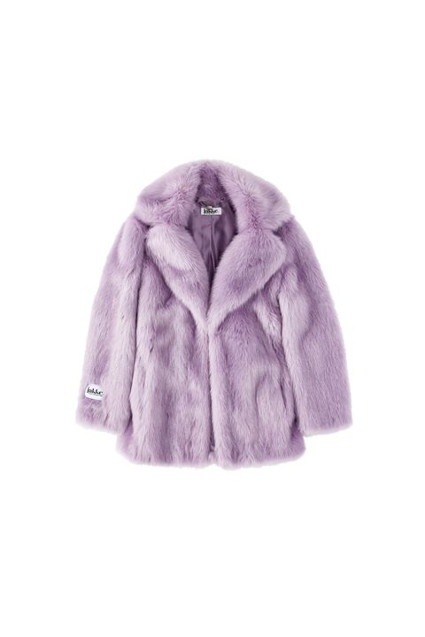 Fur, Clothing, Outerwear, Fur clothing, Violet, Purple, Lilac, Pink, Sleeve, Jacket,