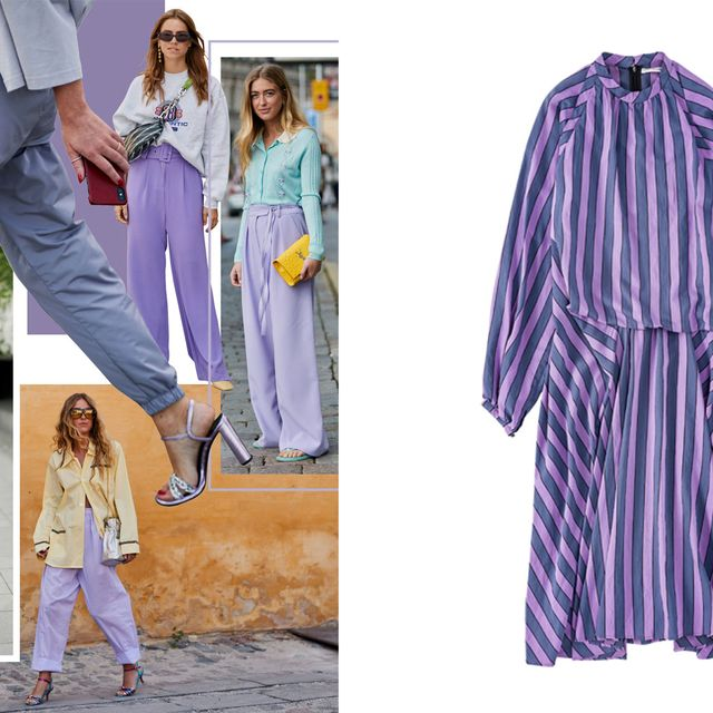 Clothing, Purple, Violet, Fashion, Outerwear, Footwear, Street fashion, Jeans, Pajamas, Dress,
