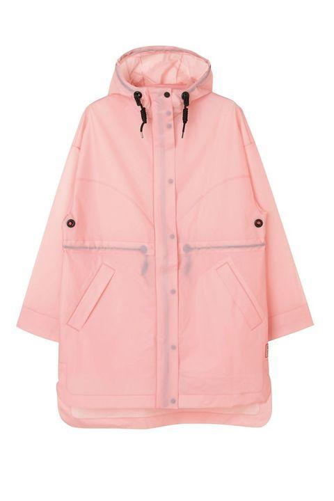 Clothing, Outerwear, Pink, Jacket, Hood, Sleeve, Coat, Peach, Parka, Raincoat,