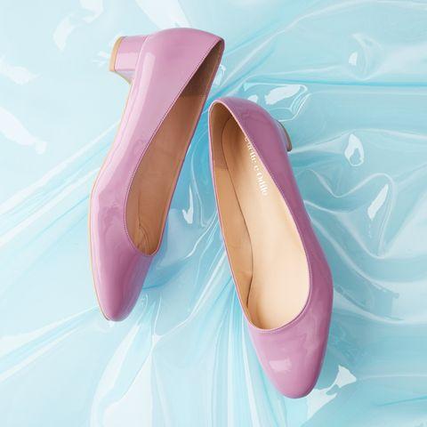Footwear, Pink, Magenta, Tan, Lavender, Aqua, Dancing shoe, Dress shoe, Ballet flat,
